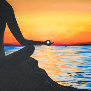 Sunset Mantra Acrylic Painting