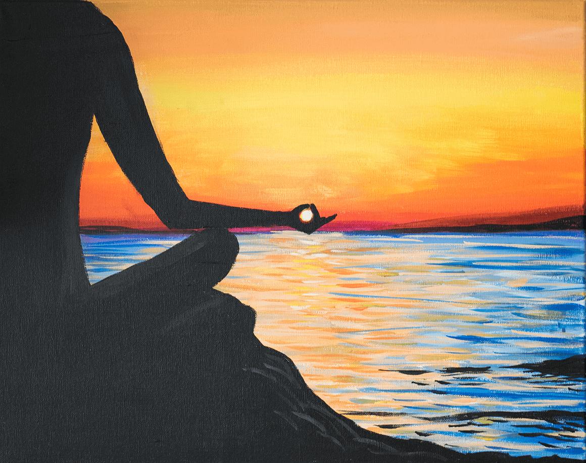 Sunset Mantra Acrylic Painting
