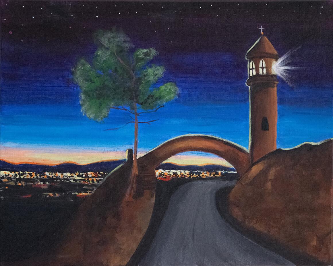 Mt. Rubidoux Acrylic Painting