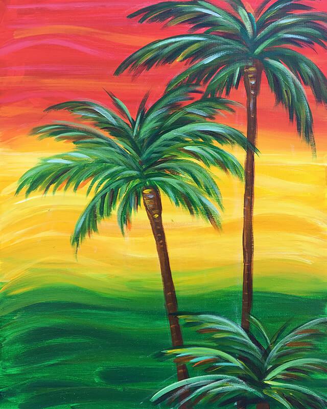 Rasta Palms Painting Party