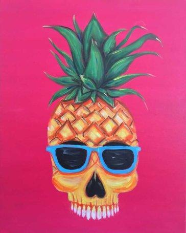 Pineapple Dude Acrylic Painting