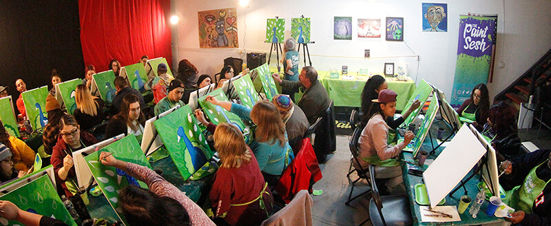 Paint and Puff Art Class