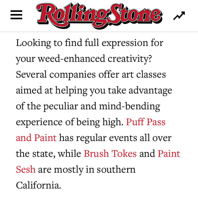 The Paint Sesh in The Rolling Stone Article
