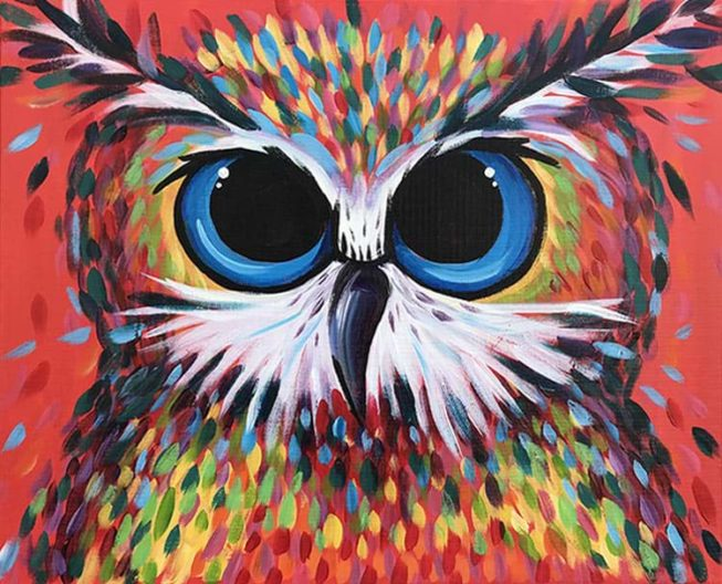 """""""Owl Be There"""" Step by step Acrylic Painting Class"""