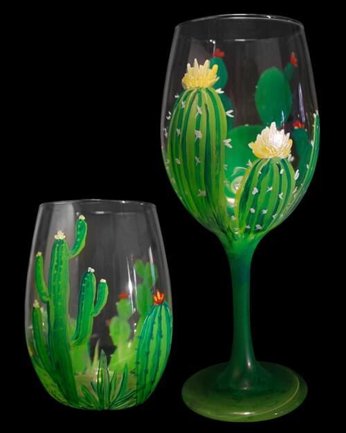 Desert Bloom - Wine Glasses Paint & Sip in Riverside, CA