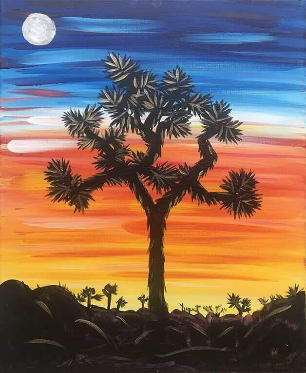 Joshua Tree Step By Step Acrylic Painting Class