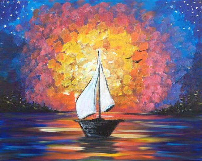 Come Sail Away Acrylic Painting By Chelz Franzer