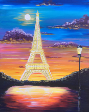La Tour Eiffel Acrylic Painting