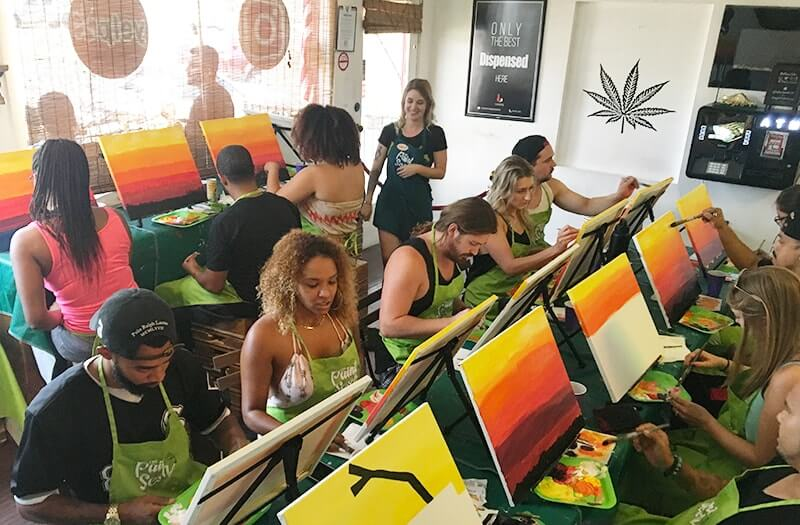 Paint and Puff with The Paint Sesh at Wake and Bake Cafe