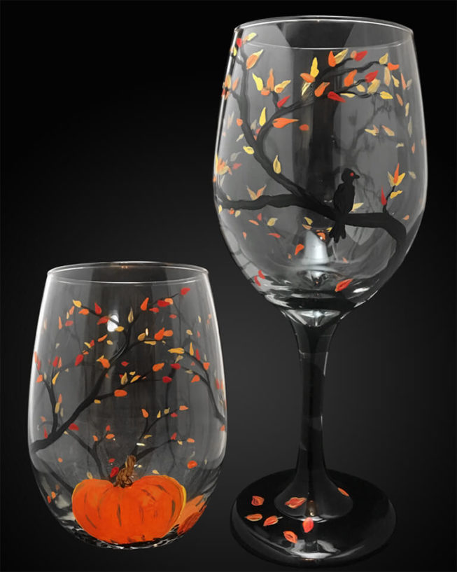 Autumn Wine Glasses