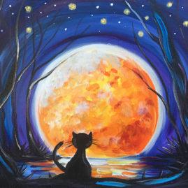 Moon Shadow Acrylic Painting