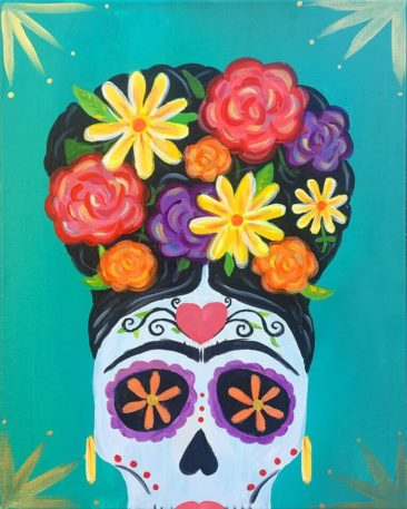 Dia De La Frida Acrylic Painting