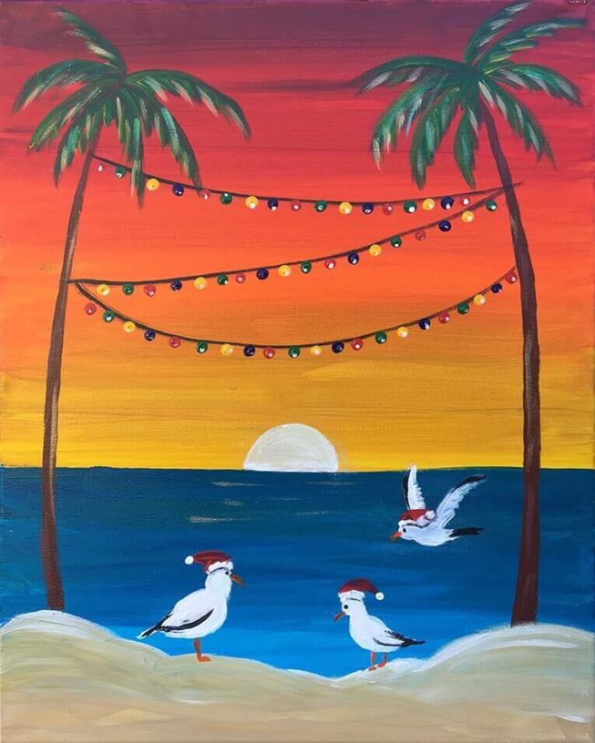 Christmas In Cali Acrylic Painting