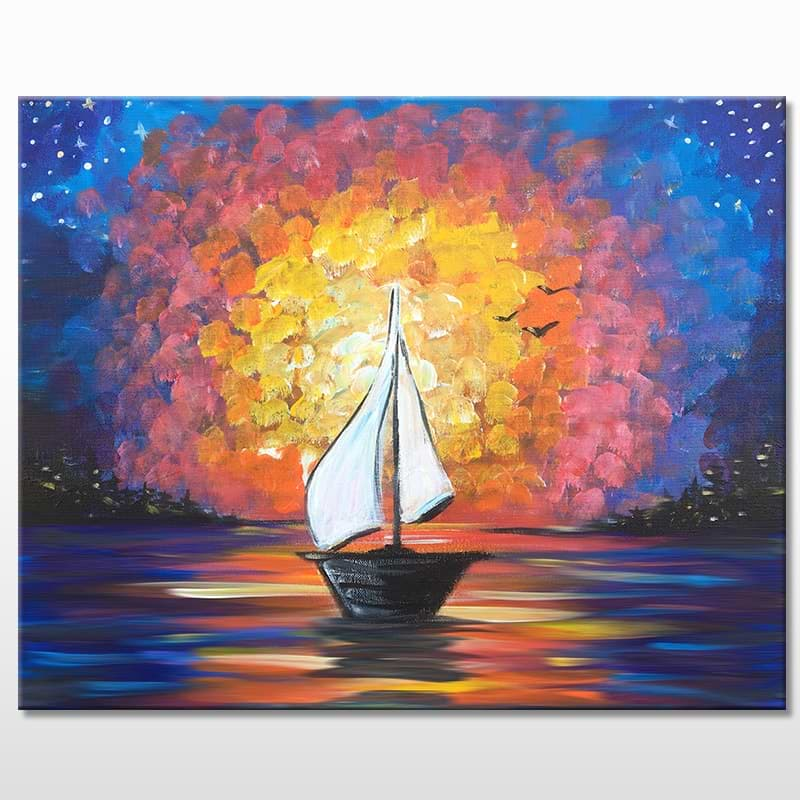 Come Sail Away Acrylic Painting