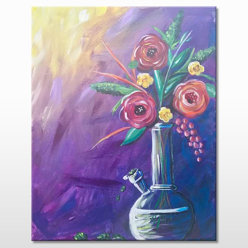 Mary Janes Vase Paint & Puff Event