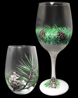Winter Wine Glasses