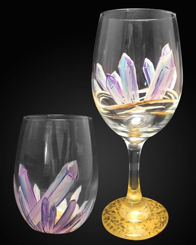 Crystallized Wine Glasses