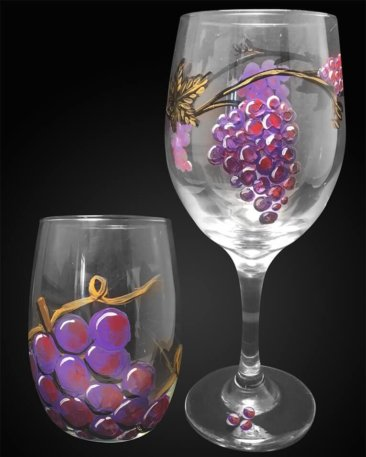 Grapevine Wine Glasses