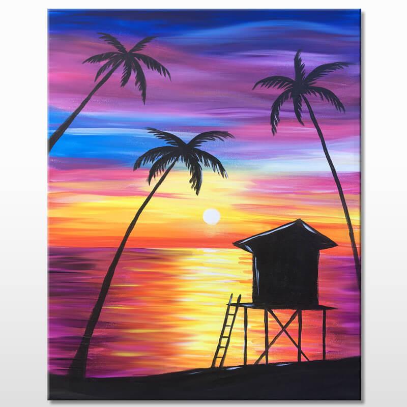 Paradise Beach Acrylic Painting Class