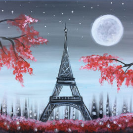 A Night in Paris - Acrylic Painting
