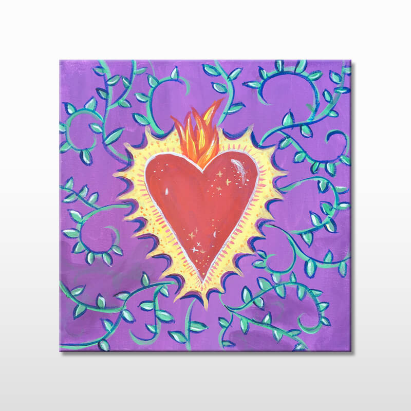 Mi Corazon Valentines Virtual Paint Night