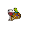 Paint and Sip Hard Enamel Pin - Red Wine