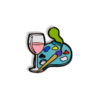 Wine and Paint Hard Enamel Pin - Rosé Wine