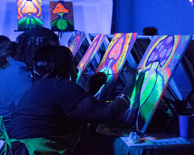 UV Painting Party in California