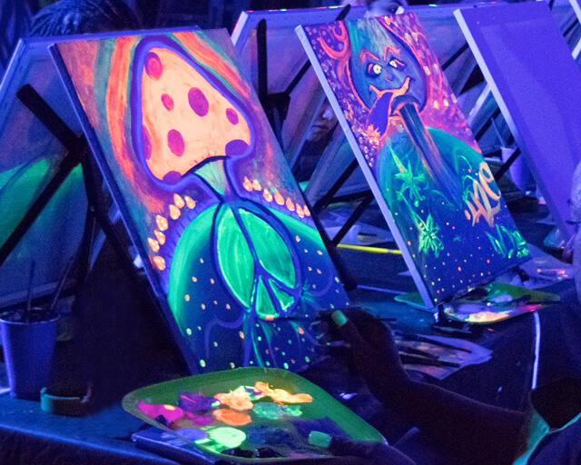 Neon Painting Party in Los Angeles Area