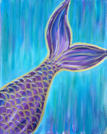 Mermaid Vibes Acrylic Painting