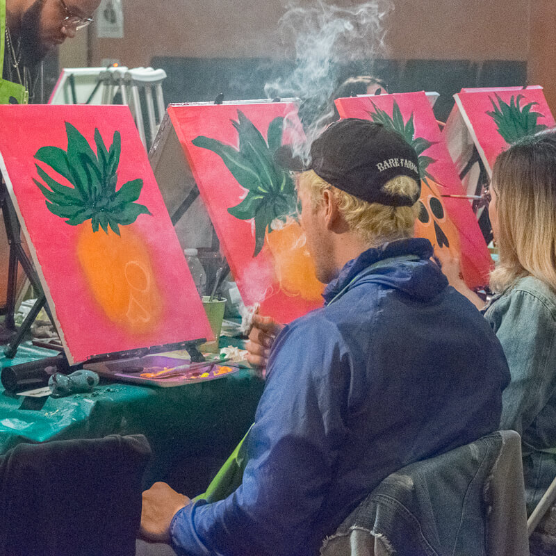 Paint and Smoke Weed Class