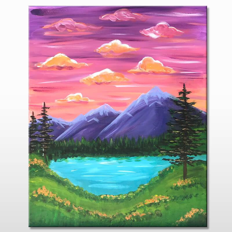 Wanderlust Acrylic Painting