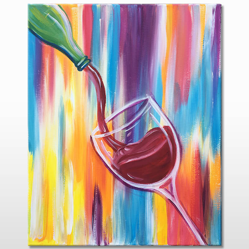 Wine Time Virtual Painting Event
