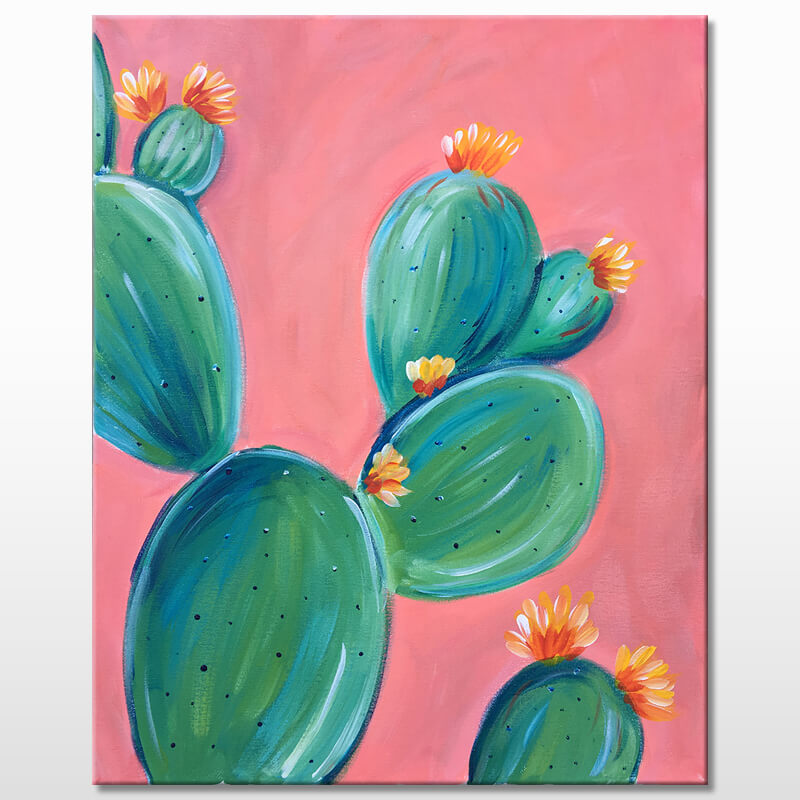Prickly Pear Painting Class