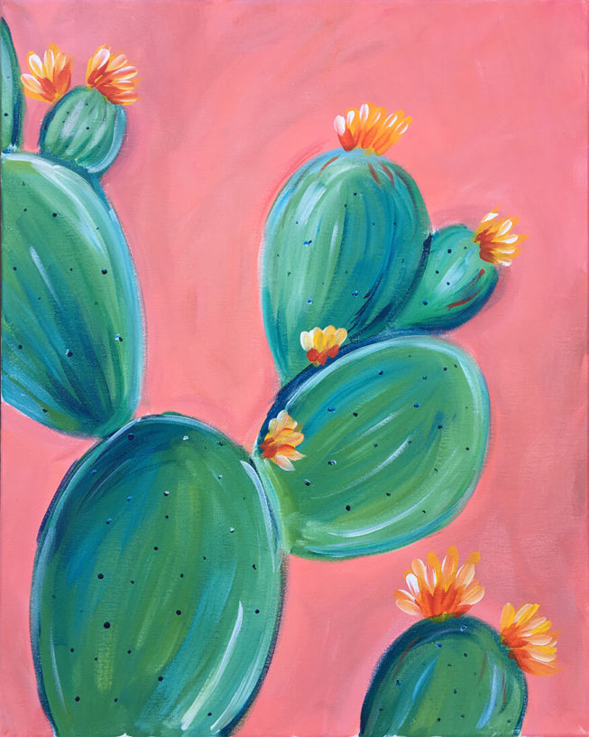 Prickly Pear Acrylic Painting