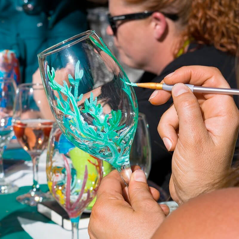 Wine Glass Painting Class