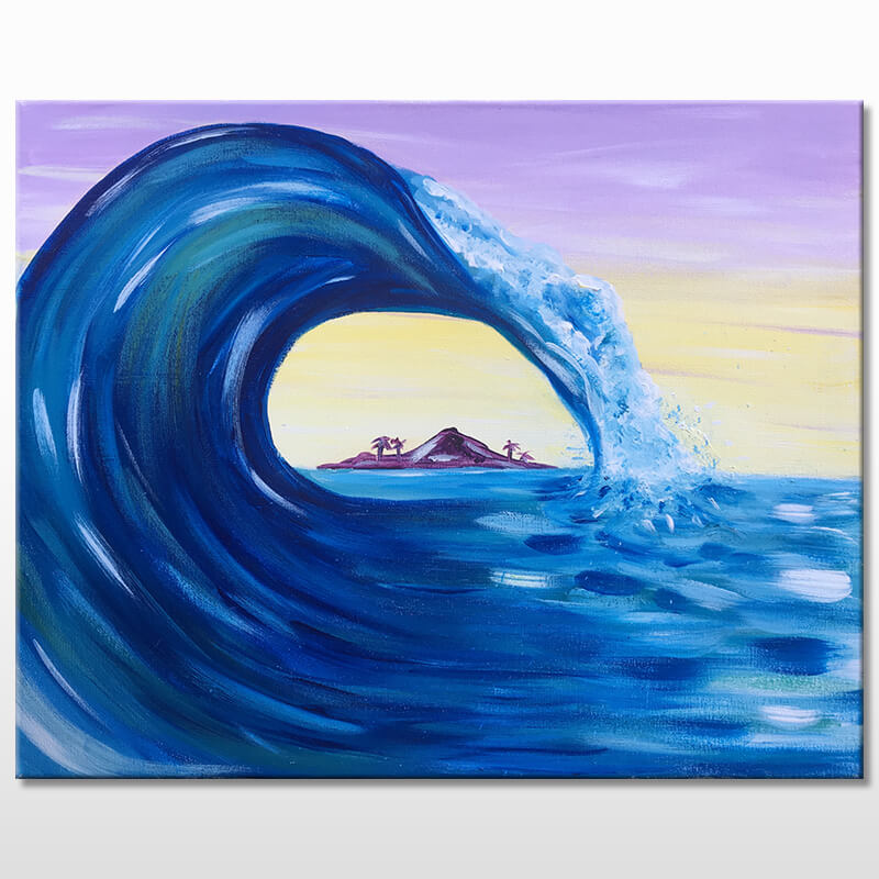 The Big Wave - Acrylic Painting