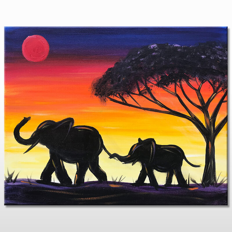 Elephants Mothers Day Painting Party