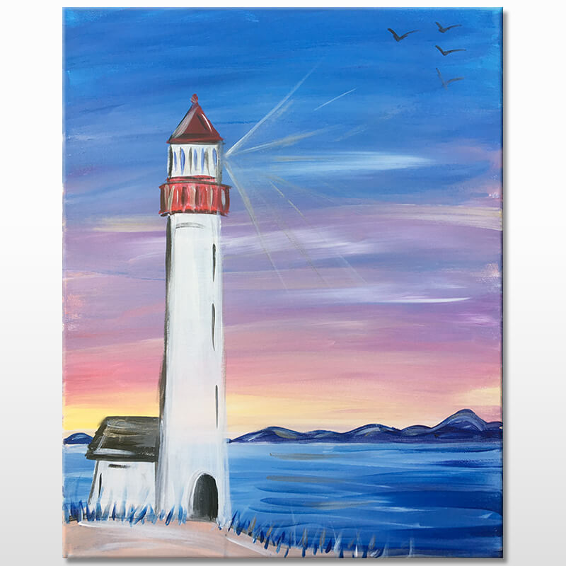 Lighthouse Cove Virtual Painting Class