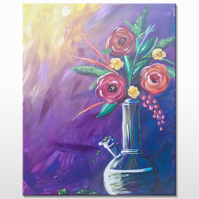 Mary Janes Vase Paint and Puff Party