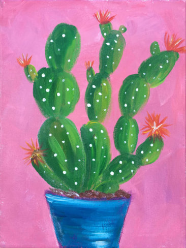Prickly Blooms Kids Painting Party