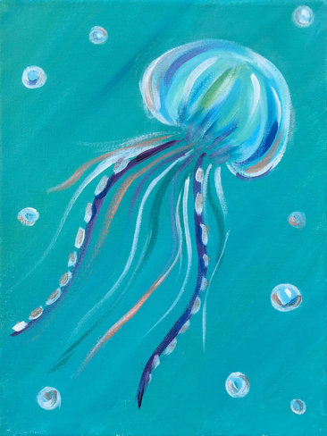 Baby Jellyfish Kids Painting Party