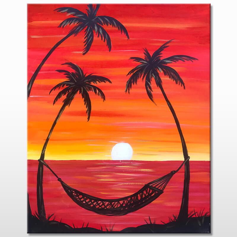 Beach Hangout Virtual Paint & Puff Event