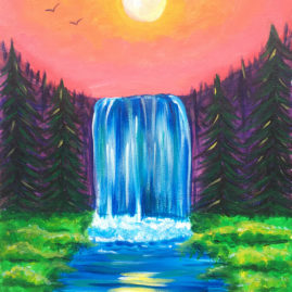 Chasing Waterfalls Acrylic Painting
