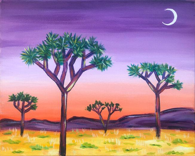 Desert Dreams Acrylic Painting