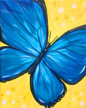 Free Spirit Butterfly Acrylic Painting