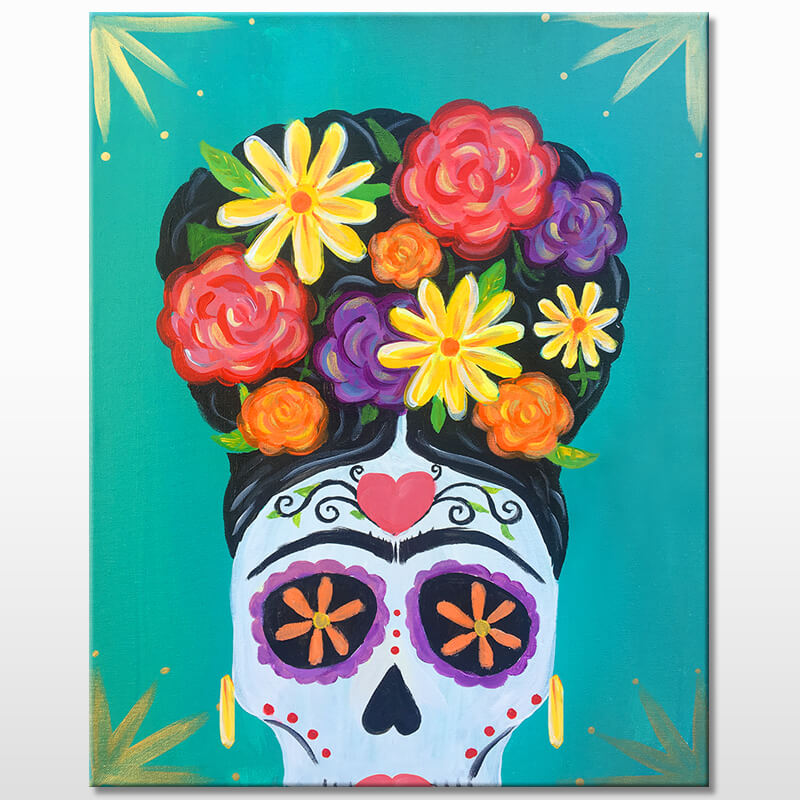 Dia de La Frida Online Painting Event