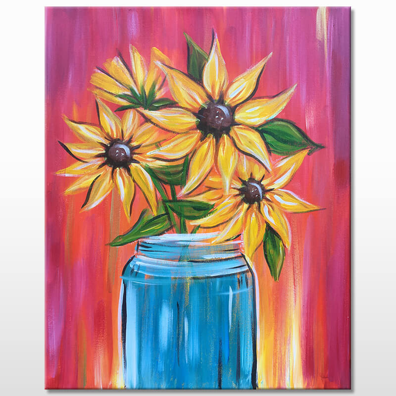 Sunflowers Acrylic Painting
