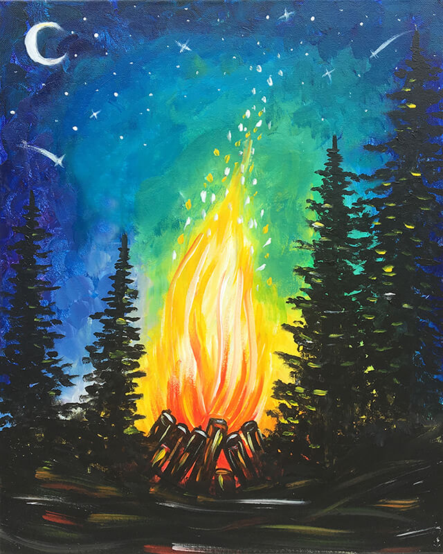 Campfire Painting Party