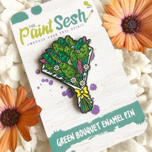 Cannabis Bouquet Pin